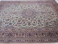 Wonderful, beautiful Persian carpet VINTAGE Kashan/Iran 357 x 255 cm excellent quality very clean rare colour vintage
