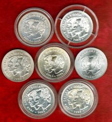 Spain – Juan Carlos I – Set of 6 silver coins of 12 euros + 1 of 30 euros – 2002 to 2014 (7).