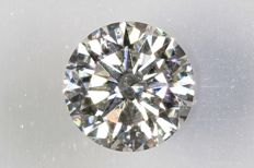 0.15 ct – Brilliant cut diamond – F, SI1 – No Reserve Price