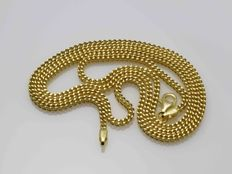 18k Gold Necklace Chain - 55 cm • No reserve price •