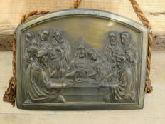 A. Birembaux - bronze icon in relief - Last supper - 1st half 20th century - Belgium