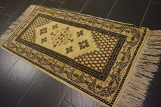 Beautiful oriental carpet, designer Berber carpet, runner, 70 x 140 cm, made in Morocco, new wool