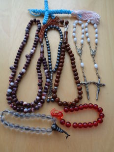 Rosaries 2 x + Prayer wreaths/Japa Mala 5x + Prayer tassel 1 x