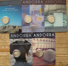 Andorra – 2 Euro 2014/2016 (5 different)