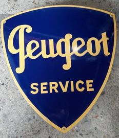 Peugeot service enamel advertising sign garage dealer