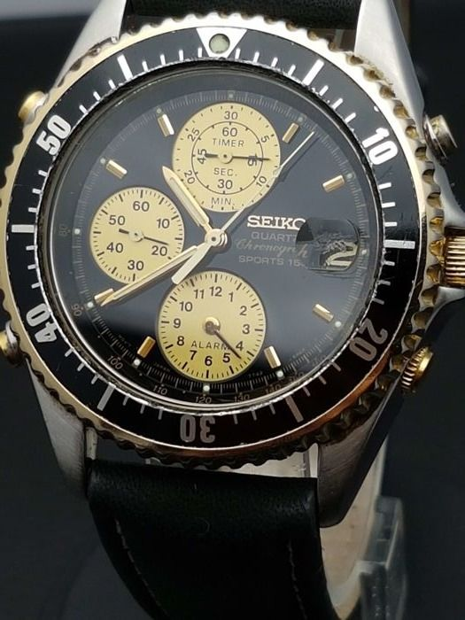 Seiko Sports 150 -chronograph men's watch - Japan 1990s