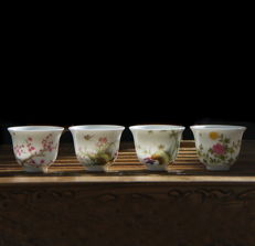 Million flower cups (4) - China - 21th century