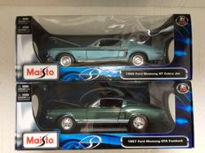 Maisto Special Edition - 1967 Ford Mustang GTA Fastback and 1968 Ford Mustang GT Cobra Jet