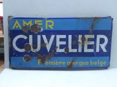 Cuvelier - enamel sign -1987