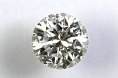 0.13 ct - Brilliant-cut diamond -  G, VS2 - Zonder Reserve Prijs