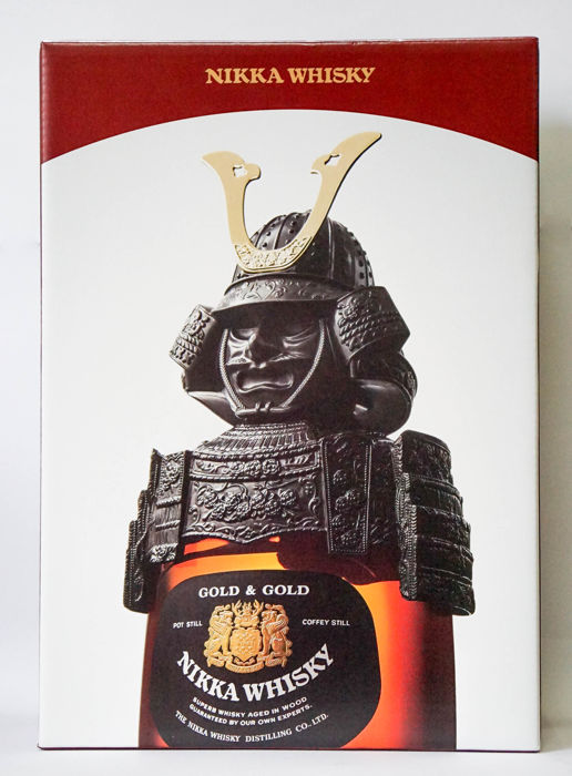Nikka Gold and Gold Kabuto Set
