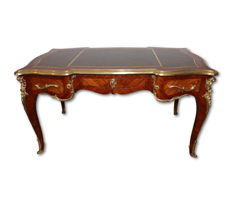 Bois de rose and rosewood writing desk, Napoleon III period - France - ca. 1880