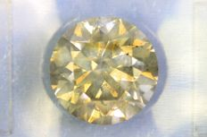 Diamond - 2.40 ct - Fancy Yellowish Grey - SI2 - No Reserve Price