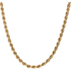 14 kt – Yellow gold twisted link necklace – Length: