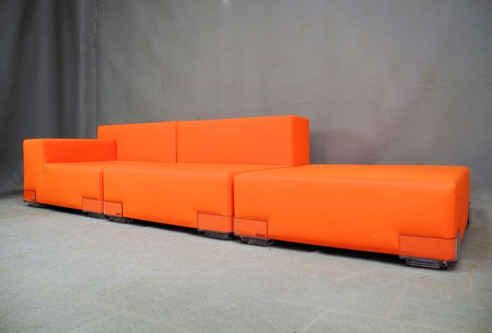 Piero Lisosni for Kartell - 'Plastics Duo' elements sofa