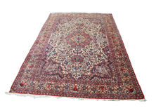 "Antique wool and silk Persian Isfahan room size carpet size 345x235cm (11'3""x7'7"")"