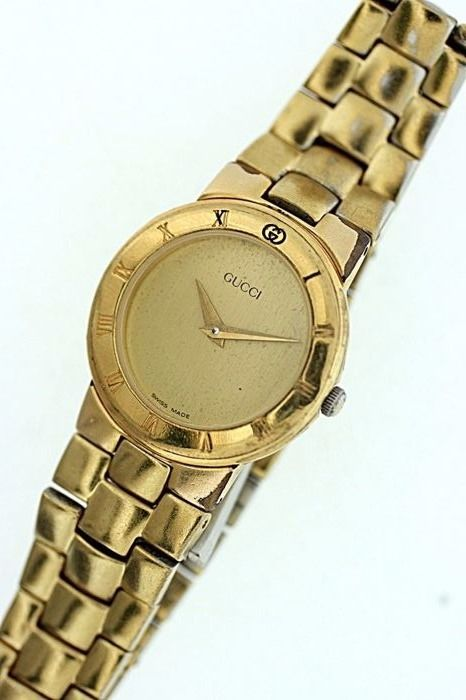 Gucci 3300.2.L - Ladies gold plated, Swiss made wrist watch c.1990/2000s