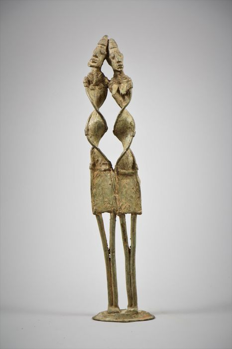 Primordial couple in bronze - DOGON - Mali