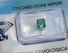 Blue-Green Emerald - 0.76 ct - No Reserve Price