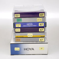 7 different Hoya filters 67 mm - new (1655)