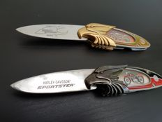 Franklin Mint - Two Official Harley Davidson Collector's Knives - Model 74 & Sportster - Limited Edition