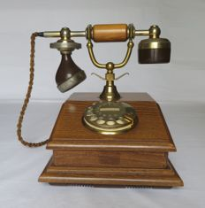 Old wooden PTT telephone with a dial - Model Rembrandt KS - 1982