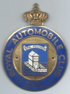 Royal SPA Automobile Club Car Badge