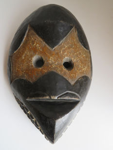 Tribal facial bird mask - OGONI - Nigeria