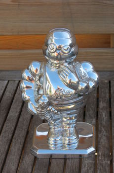 Exclusive MICHELIN MONEY BOX aluminium polished - France - 1998.