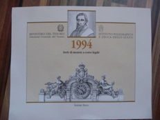 Italy, Republic - Annual set 1994 (3 sets) (incl. silver)