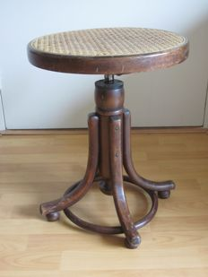 Piano stool in Thonet style, 2nd half 20th century
