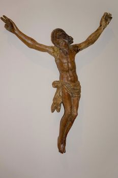 A carved wood Corpus Christ - possibly Castillian, Spain - 16 century