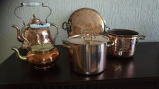 Collection of 5 copper objects