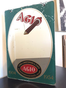 Very rare advertising mirror for Agio from 1952.
