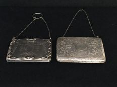 Pair of coin purses in silver - Robert Pringle & Sons - Birmingham - 1913 and 1891