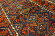 Antique hand-knotted Persian collector's carpet, Belutsch rug, made in Iran, 95 x 170 cm