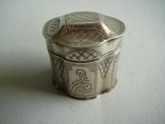 Silver snuff box, the Netherlands, 1836