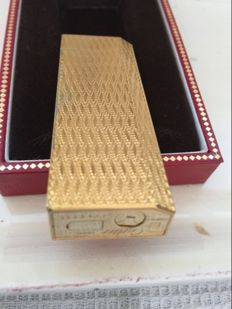 5 sides gold plated Cartier lighter from the 90s