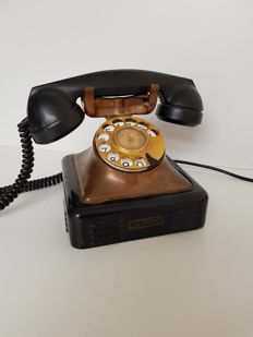 Heavy copper/Bakelite French telephone