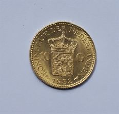 The Netherlands - 10 guilder coin 1932, Wilhelmina - gold