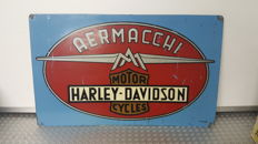 Aermacchi Harley-Davidson advertising sign - 1950s/60s