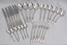 28 Piece Cutlery Set Rose Pattern Arthur Price, England - Early 20th Century