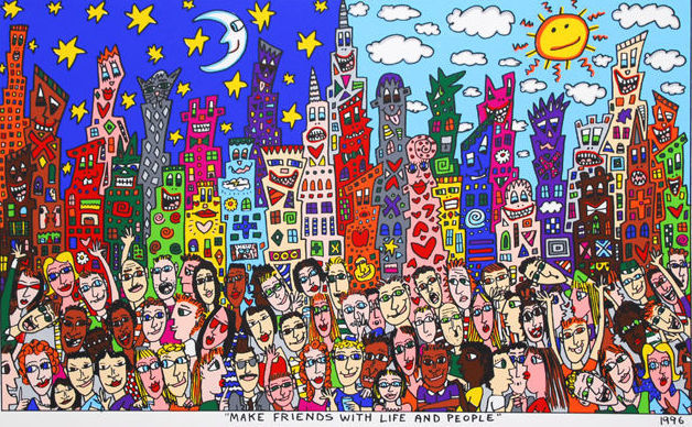 james rizzi make friends with life and people
