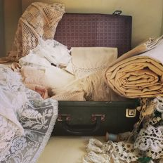 Large lot of antique fabrics - late 19th century - Italy
