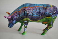 CowParade - Marybeth Butman - type Van Gogh's Vegas and Red Rock - medium - retired with box and tag