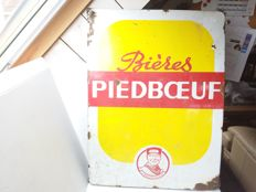 Piedboeuf- enamel sign  - 1955.