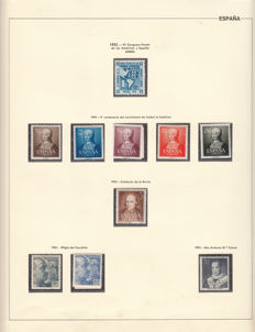 España 1950/1963 – Collection of stamps and block sheets.
