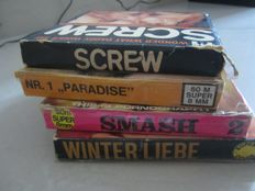 Super 8; Lot of 4 vintage porn movies - 1970's