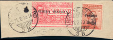 Venezia Giulia, 1918, Express mail, Military Post cancellation + variety