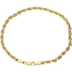 14 kt – Yellow gold twisted link bracelet – Length: 20.3 cm